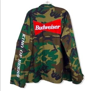Budweiser Camo Tactical Military Utility Jacket